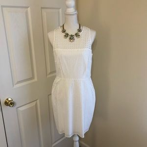 NWT! Banana Republic White Eyelet Dress, Size 10